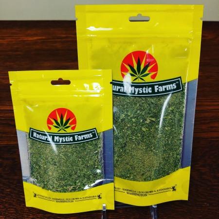 Natural Mystic Farms leaf trim at Cascade Herb Co