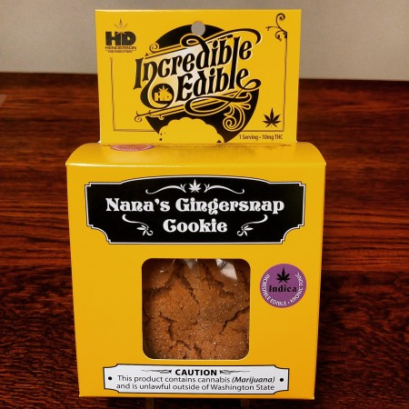 Incredible Edible Gingersnap Cookie Cannabis infused at Cascade Herb