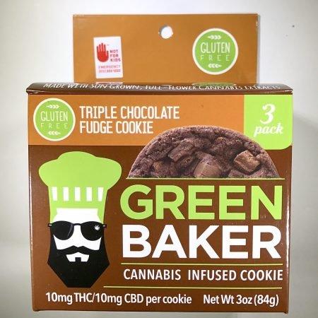 Green Baker Triple Chocolate Cookie medible Bellingham marijuana cannabis dispensary pot shop